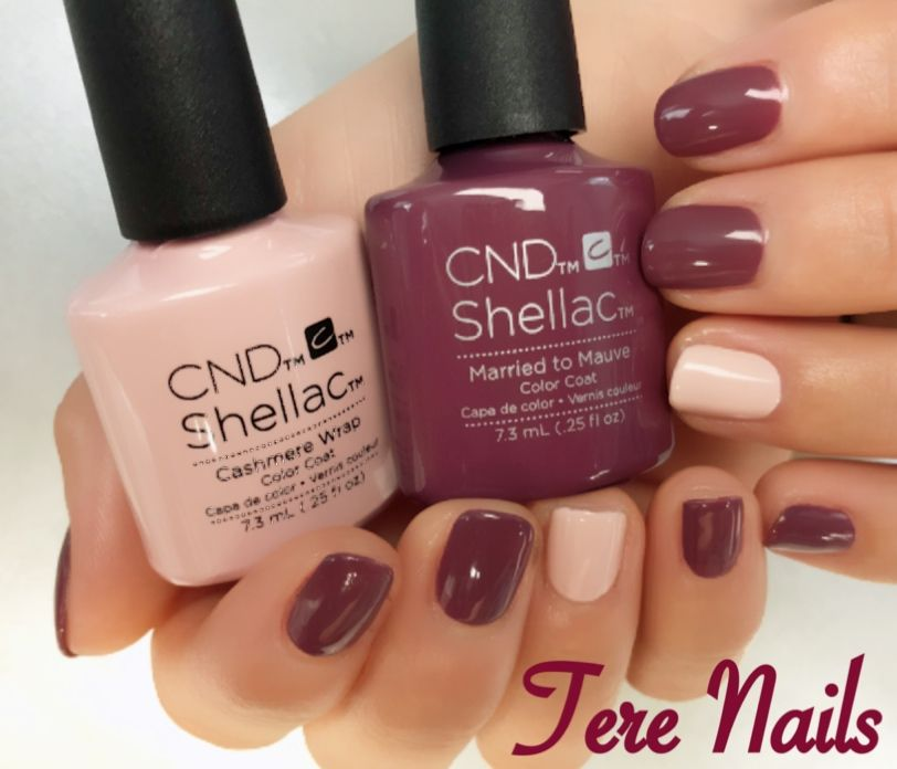 Attraktiv CND Shellac Married to Mauve and Cashmere Wrap | Nails | Pinterest  KT29