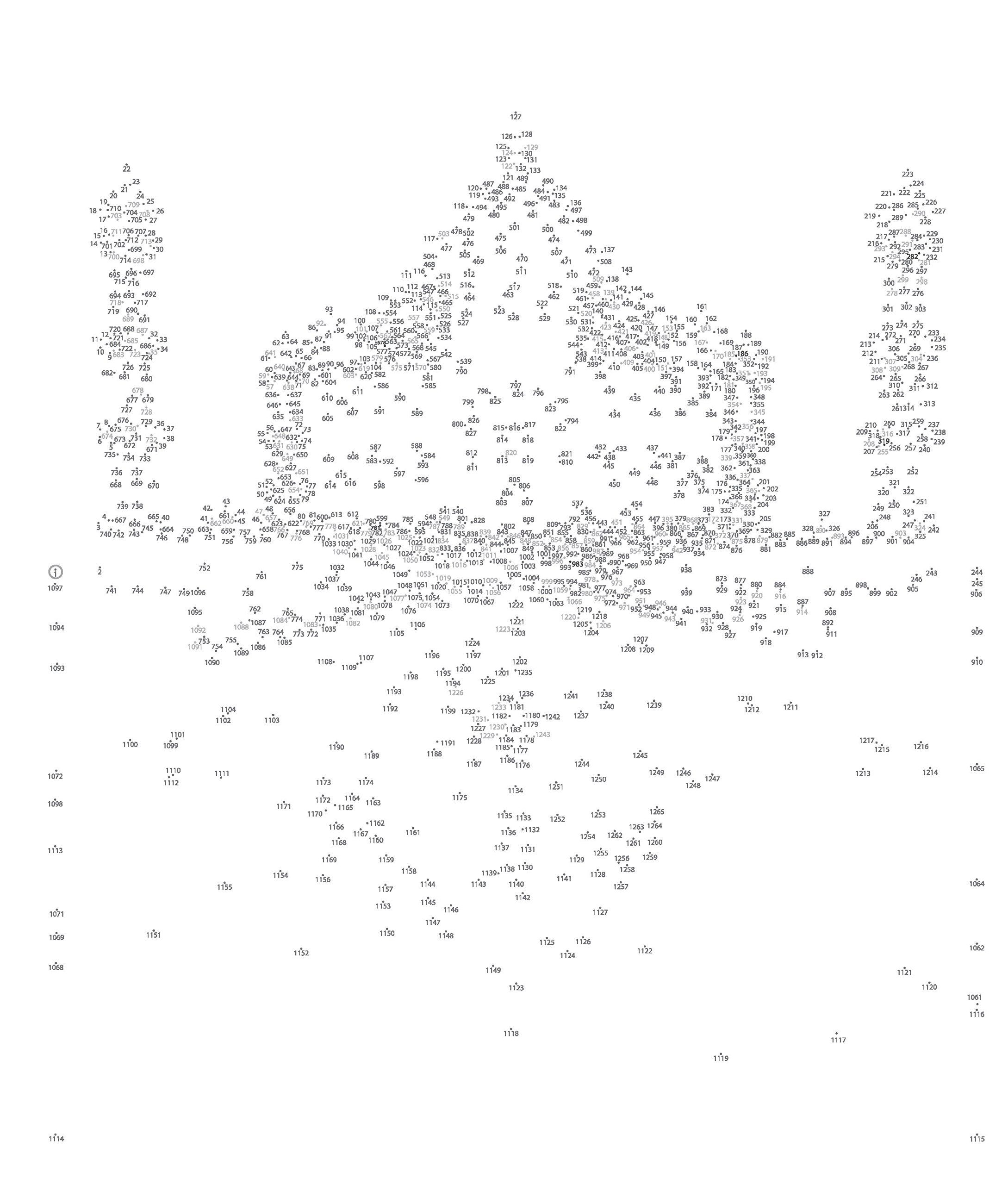 This is an image of Peaceful Free Extreme Dot to Dot Printable