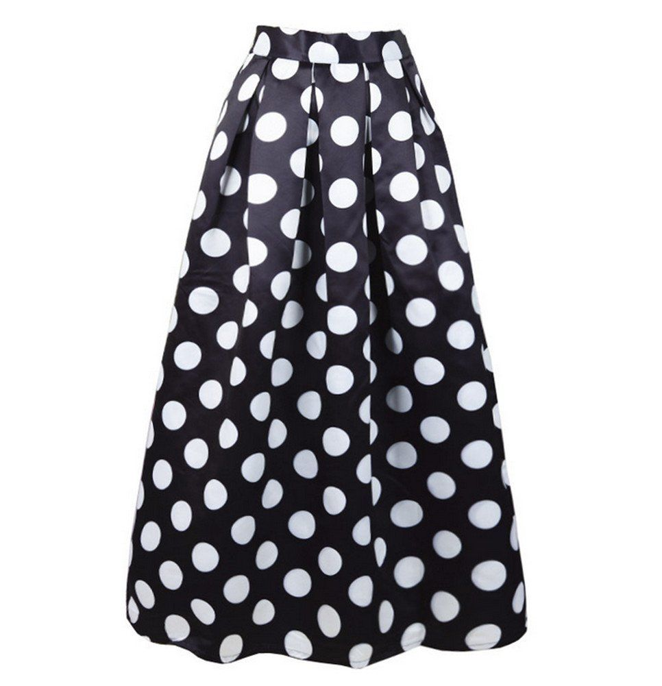 5bd33fce2 CoutureBridal Womens Elastic High Waisted ALine Polka Dot Printed Maxi Skirt  -- Continue to the product at the image link. (This is an affiliate link)