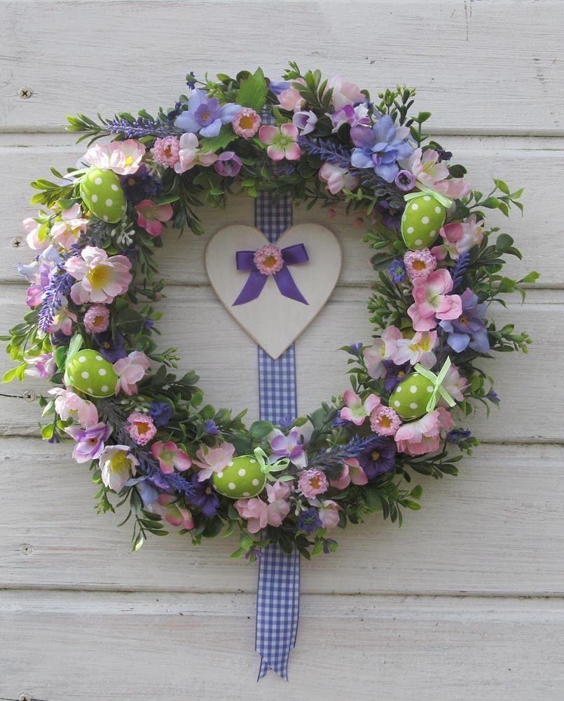 Wianek Na Drzwi Wiosenne Wianki Wreaths Easter I Floral Wreath