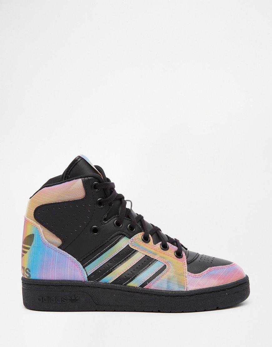 Image 2 of adidas Originals Rita Ora Instinct Multi Colored High Top  Sneakers