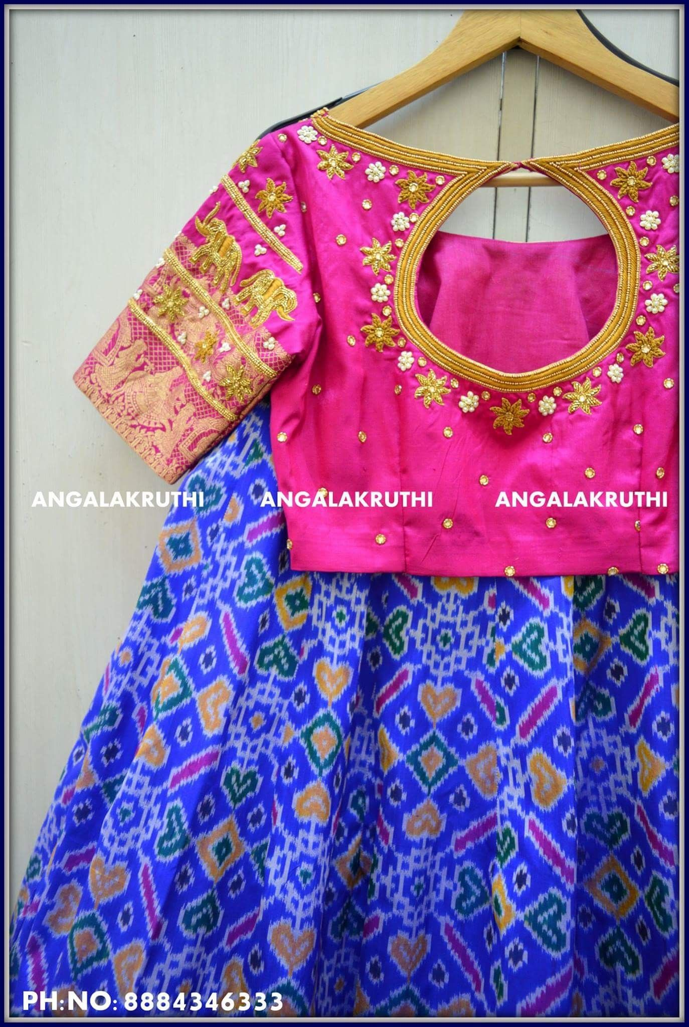Embroidery blouse designs by angalakruthi boutique bangalore ikkat embroidery blouse designs by angalakruthi boutique bangalore ikkat silk lehenga with rich hand embroidery designs by bankloansurffo Images