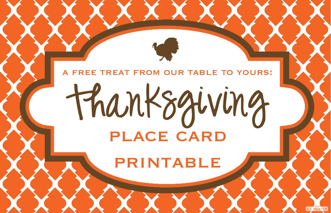 Nice Thanksgiving Place Card Template Photos Example Resume And - Card template free: place card size