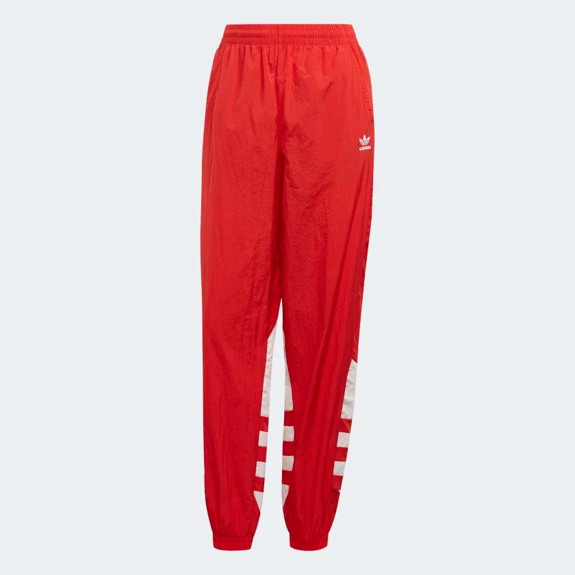 Pantalon Big Logo Lush Red White Fm2561 Pantalones Mujer Pantalones Adidas Pantalones De Chandal