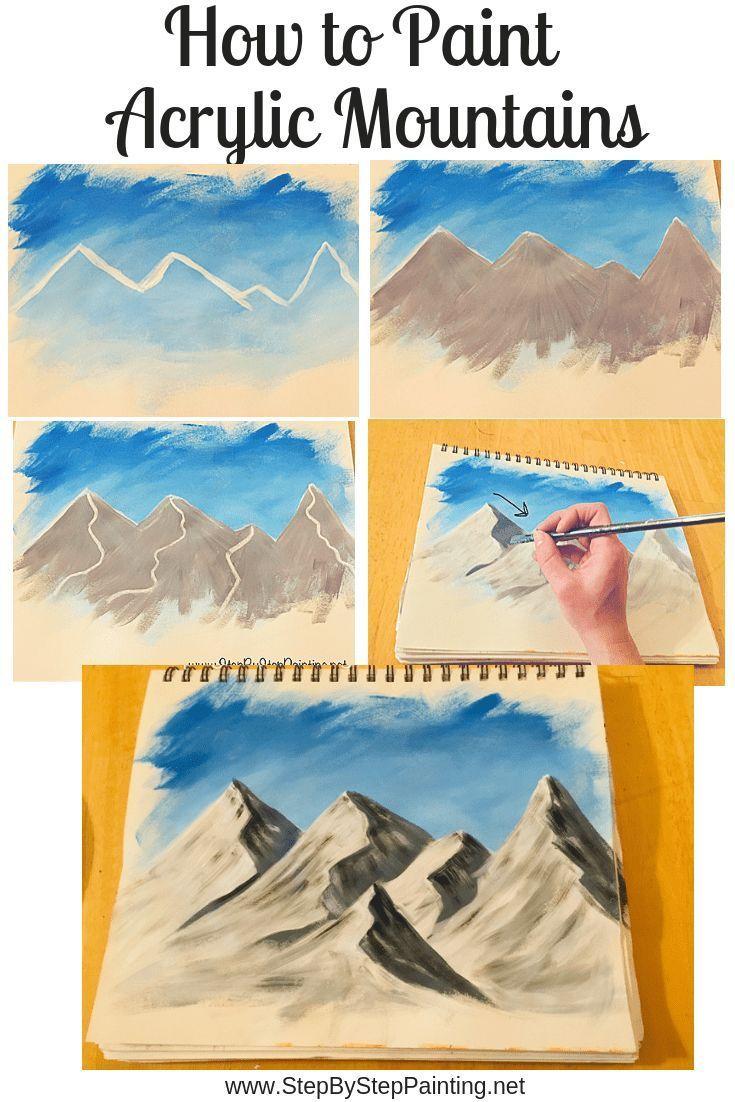 Wie man Berge malt Schritt für Schritt Malen
