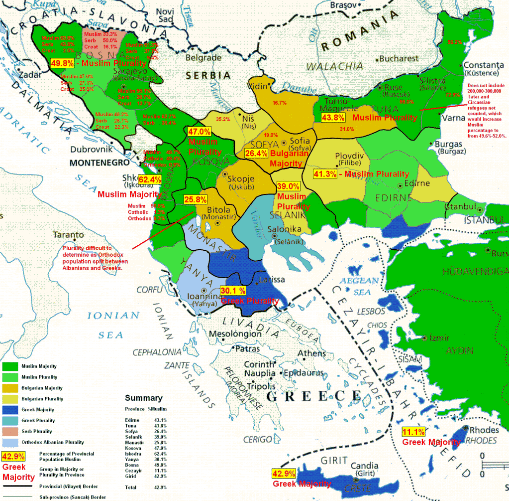 ReligiousEthnic map of the Balkans in the 19th Century  MAPS
