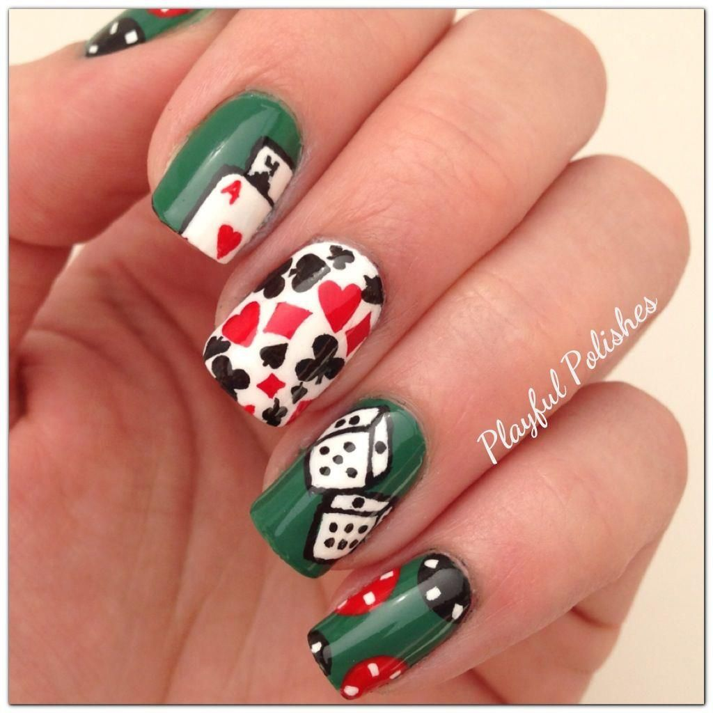 March Nail Art Challenge: Day 13, Luck   Nails I luv!   Pinterest ...