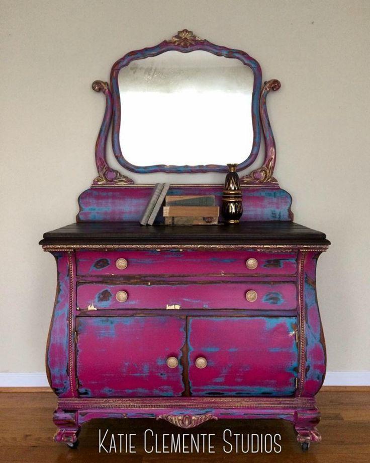 beautiful hand painted dresser distressed chalk paint home decor pinterest meubles. Black Bedroom Furniture Sets. Home Design Ideas