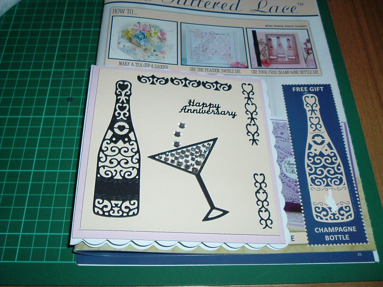 mademarian johnston  tattered lace cards wedding