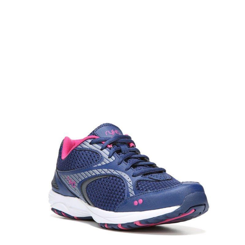 Ryka Shift Medium/Wide Memory Foam Walking Shoe Black/Lilac/Grey - Womens Shoes