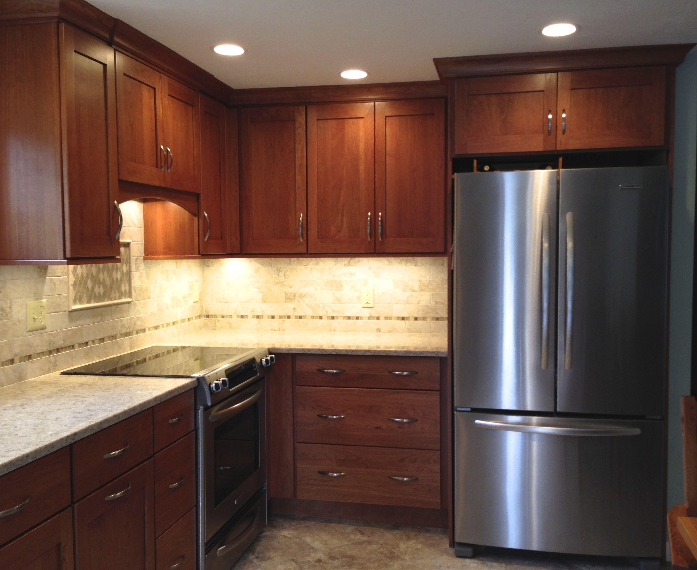 Omega Morris Cherry Cinnamon Cabinetry With Quasar Silestone Countertops Val Nociola Tile For Th Kitchen Remodel Design Kitchen Design Silestone Countertops