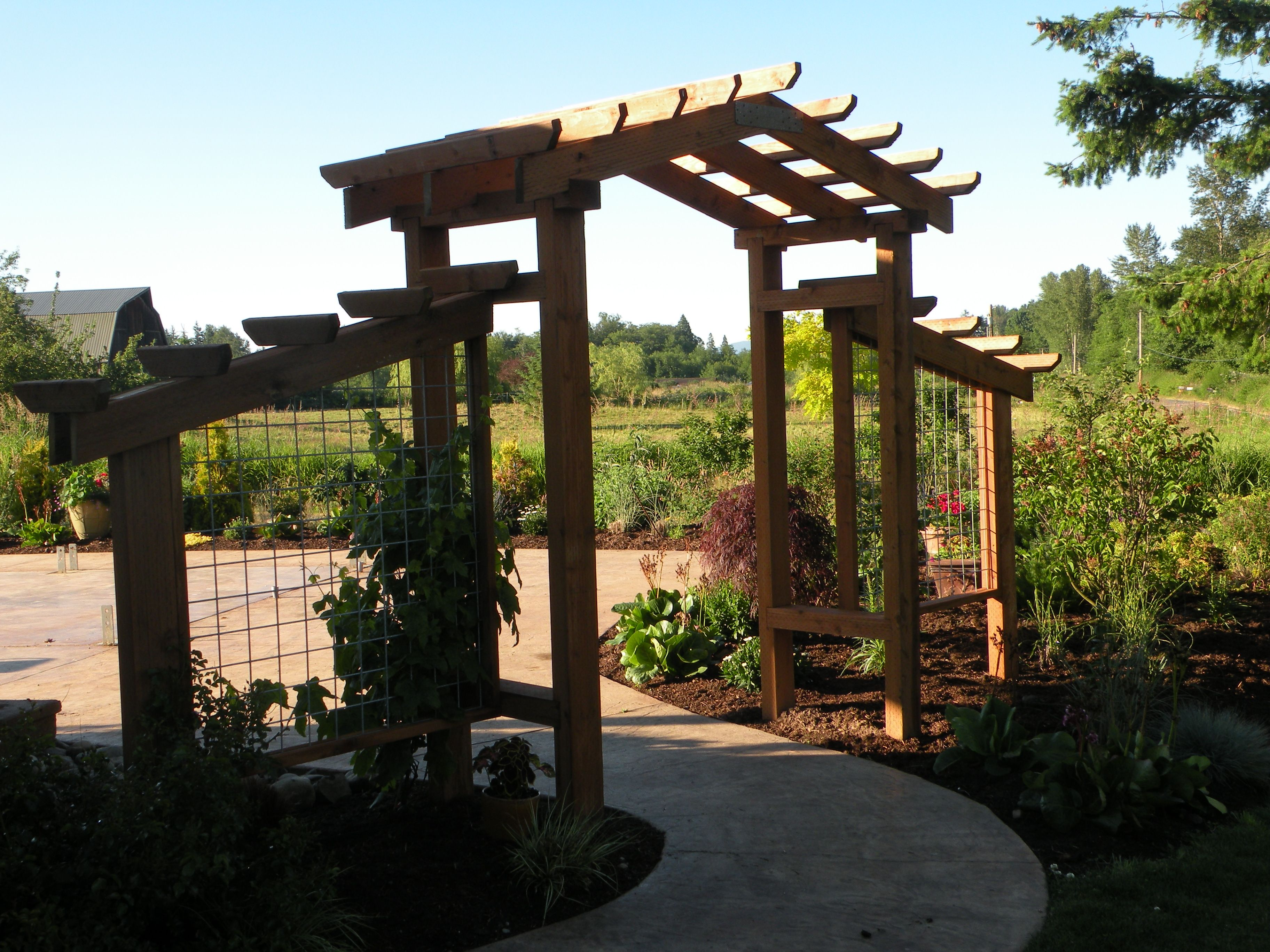 Patio Entry Arbor Garden