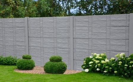 Hergo Betons Hergo Betons Construction Vente Et Pose De Clotures En Beton Ou Acier Hautrage Belg Fence Wall Design Outdoor Decor Interlocking Pavers