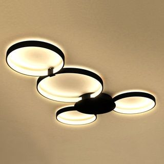 Vonn Lighting Capella 43-inches LED Ceiling Light Modern Multi-Ring Ceiling Fixture in Black