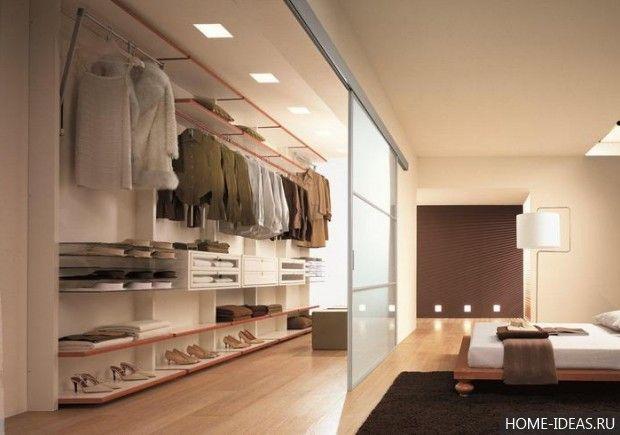 гардеробные комнаты дизайн проекты 1