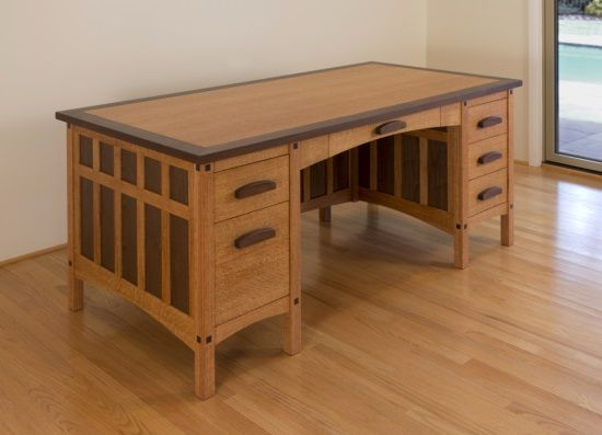 Craftsman Desk Plans Find An Exhaustive List Of Hundreds Of Detailed Woodworking Plans For Your Wood Furniture Diy Craftsman Desks Woodworking Furniture Plans