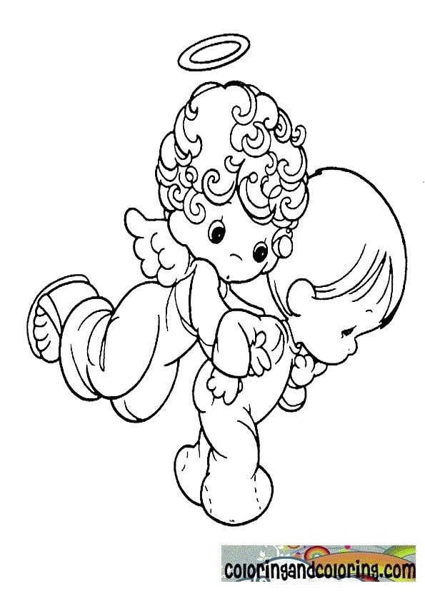 precious moments angel coloring pages | Dibujo infantiles ...