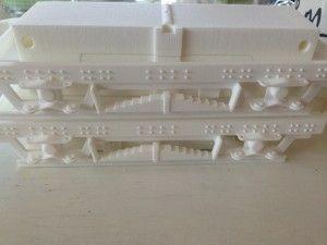 Ed's Garten Bahn 3D printed parts for custom-built bogies.