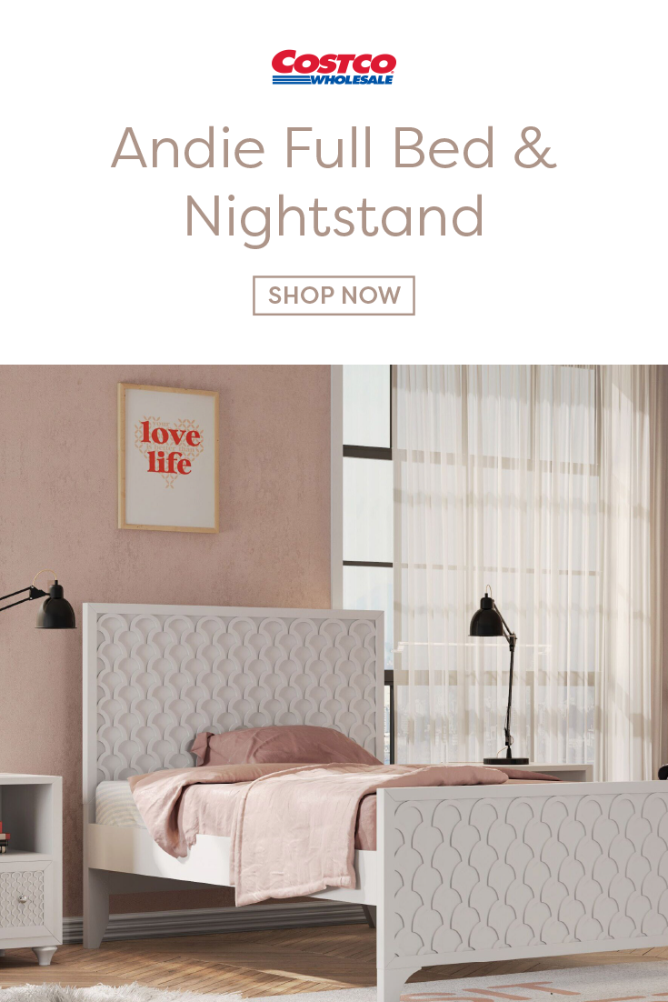 The Andie Full Bed And Nightstand Will Liven Up Any Room This Bed