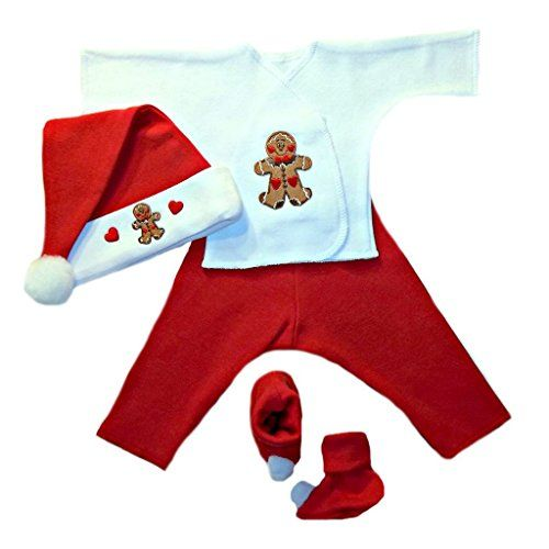 jacquis baby boys gingerbread christmas clothing set 0 3 months