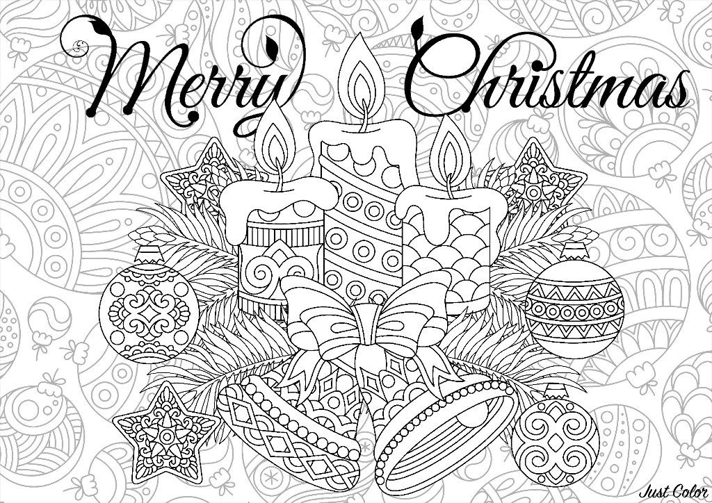Color These Cute Candles And Christmas Tree Balls These Ornaments Once Colored Will Merry Christmas Coloring Pages Christmas Coloring Pages Christmas Colors