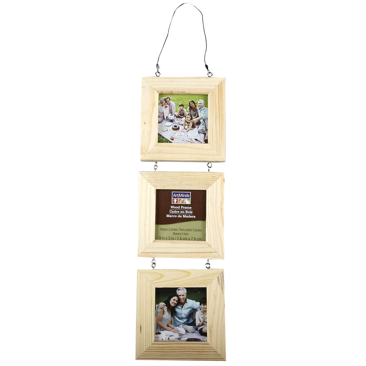 Unfinished wood picture frames craft - Artminds Wood Frame 3 Piece