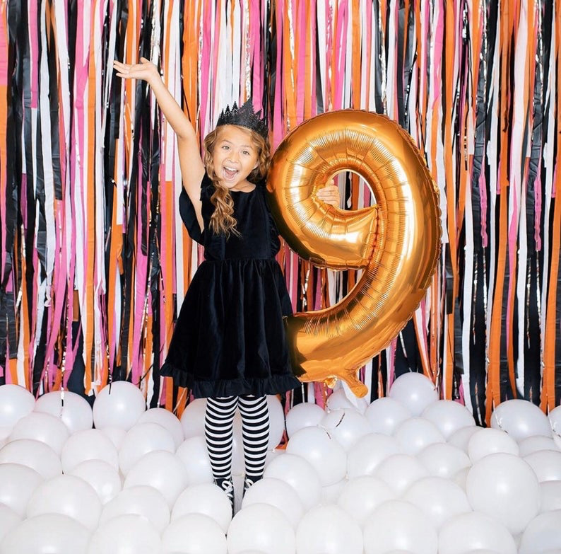 Streamer Backdrop, Fringe Backdrop, Birthday Backdrop