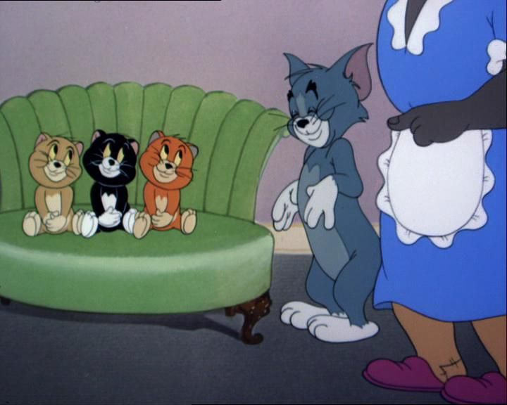 Image result for triplet trouble tom and jerry gif