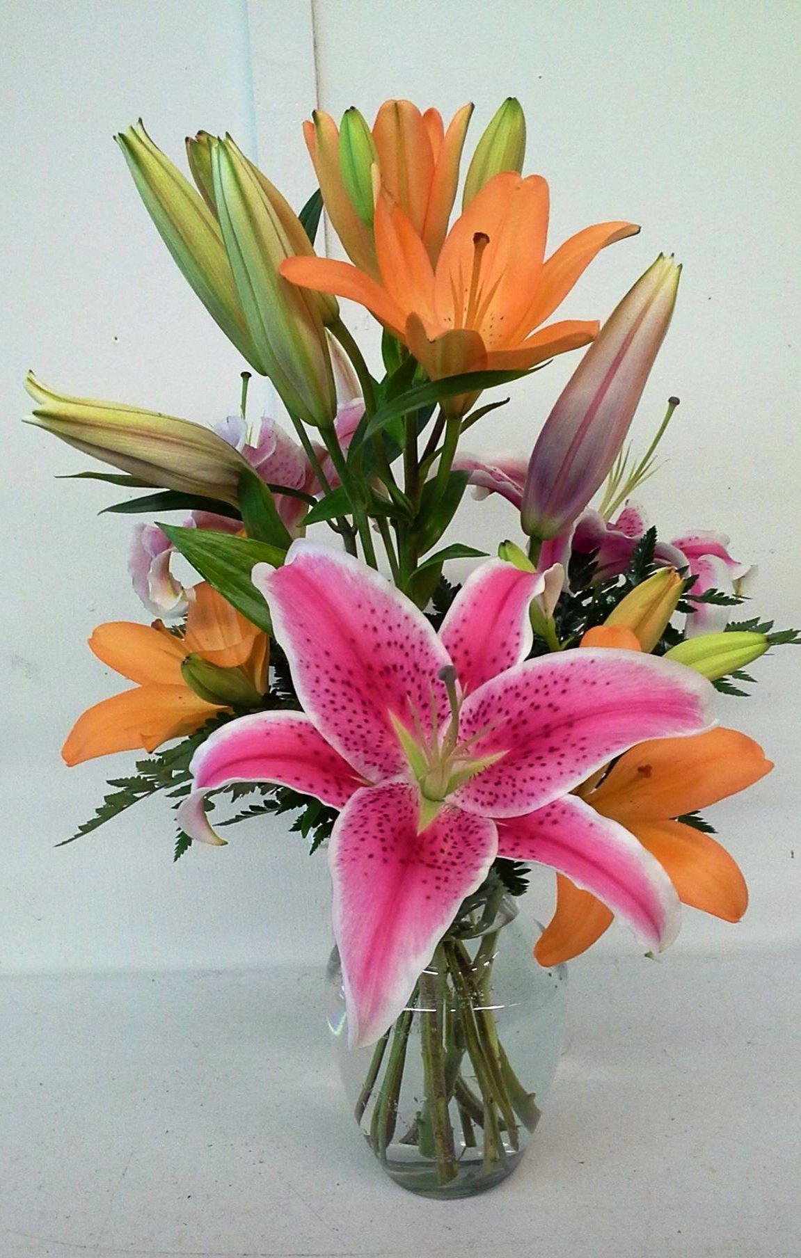Orange, Yellow, Flower Arrangements, Calla Lily, Pink, Vase, Flowers, Flower