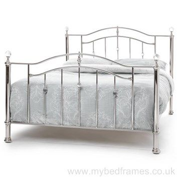 Ashley Metal Bed Frame Available In Nickel Or Black Nickel