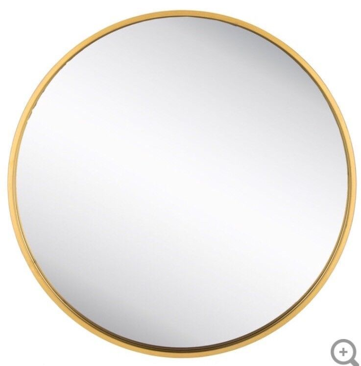 Give Your Walls A Simplistic Elegance With Round Gold Metal Wall Mirror This Beautiful Piece Of Decor Feature Mirror Wall Round Gold Mirror Gold Circle Mirror