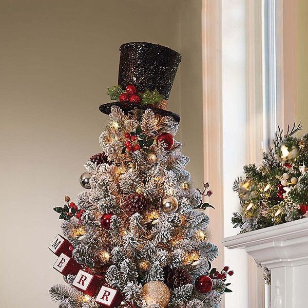 Improvements Glittering Top Hat Christmas Tree Topper ($15 ...