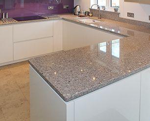 White kitchen grey worktop google search kitchen for Grey kitchen white worktop
