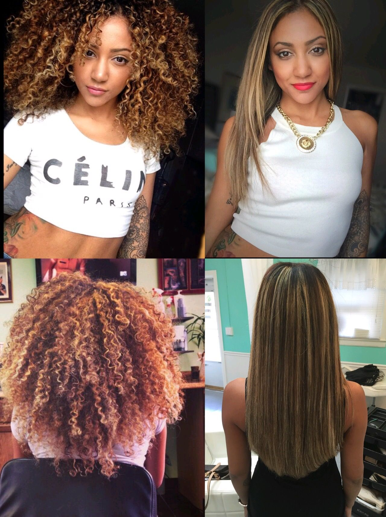 Curly Vs Straight Ig Tiffanytattooz Curly Vs Straight Hair Natural Hair Woman Curly To Straight Hair