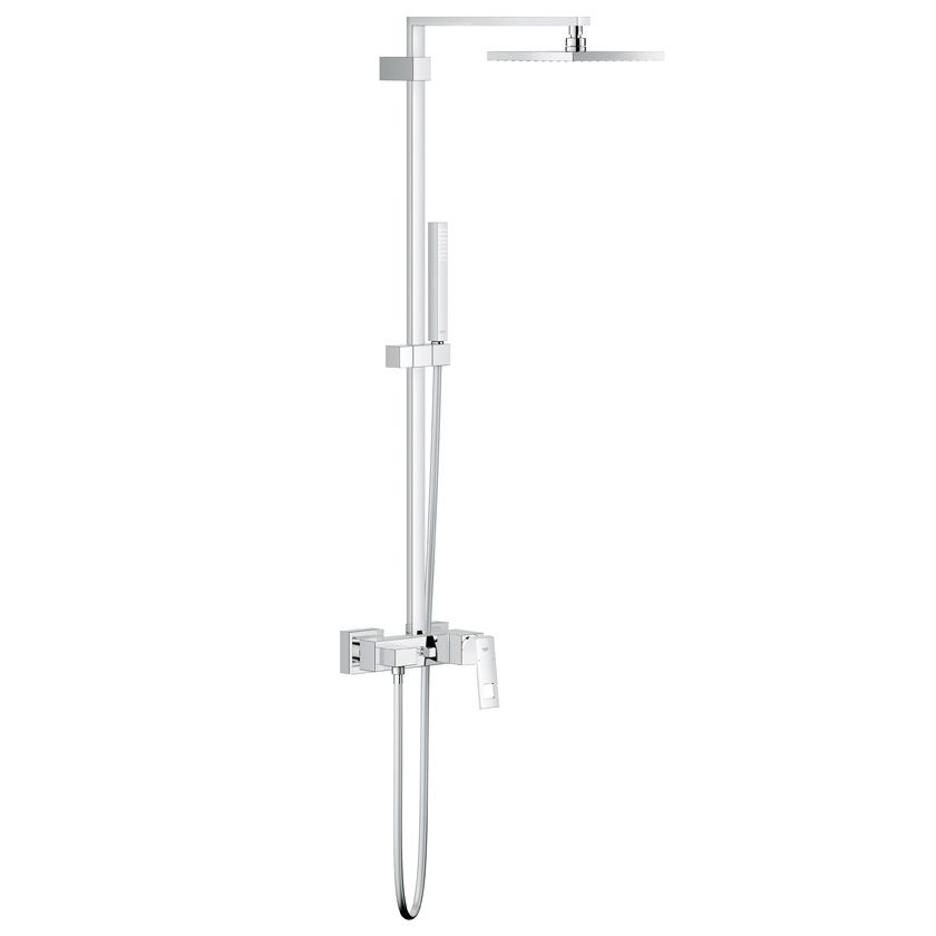 grohe eurocube wall mounted shower system with shower. Black Bedroom Furniture Sets. Home Design Ideas