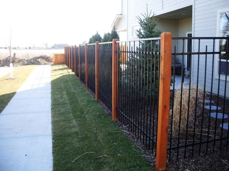 5 Foot Fence Aluminum With Cedar Posts Google Search