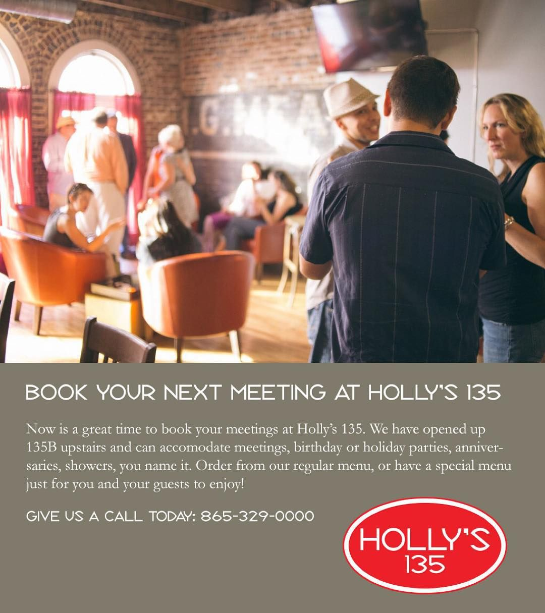We're already booking birthday parties business meetings holiday get togethers and private #GoVols saturdays! Reserve our upstairs spot now!