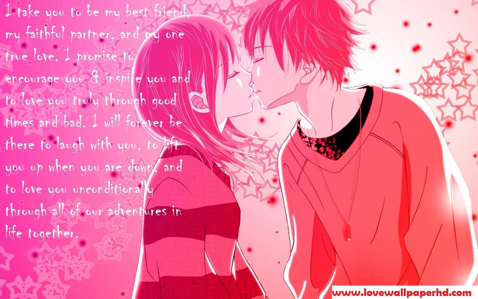 I take you to be my best friend.... Anime kiss, Anime