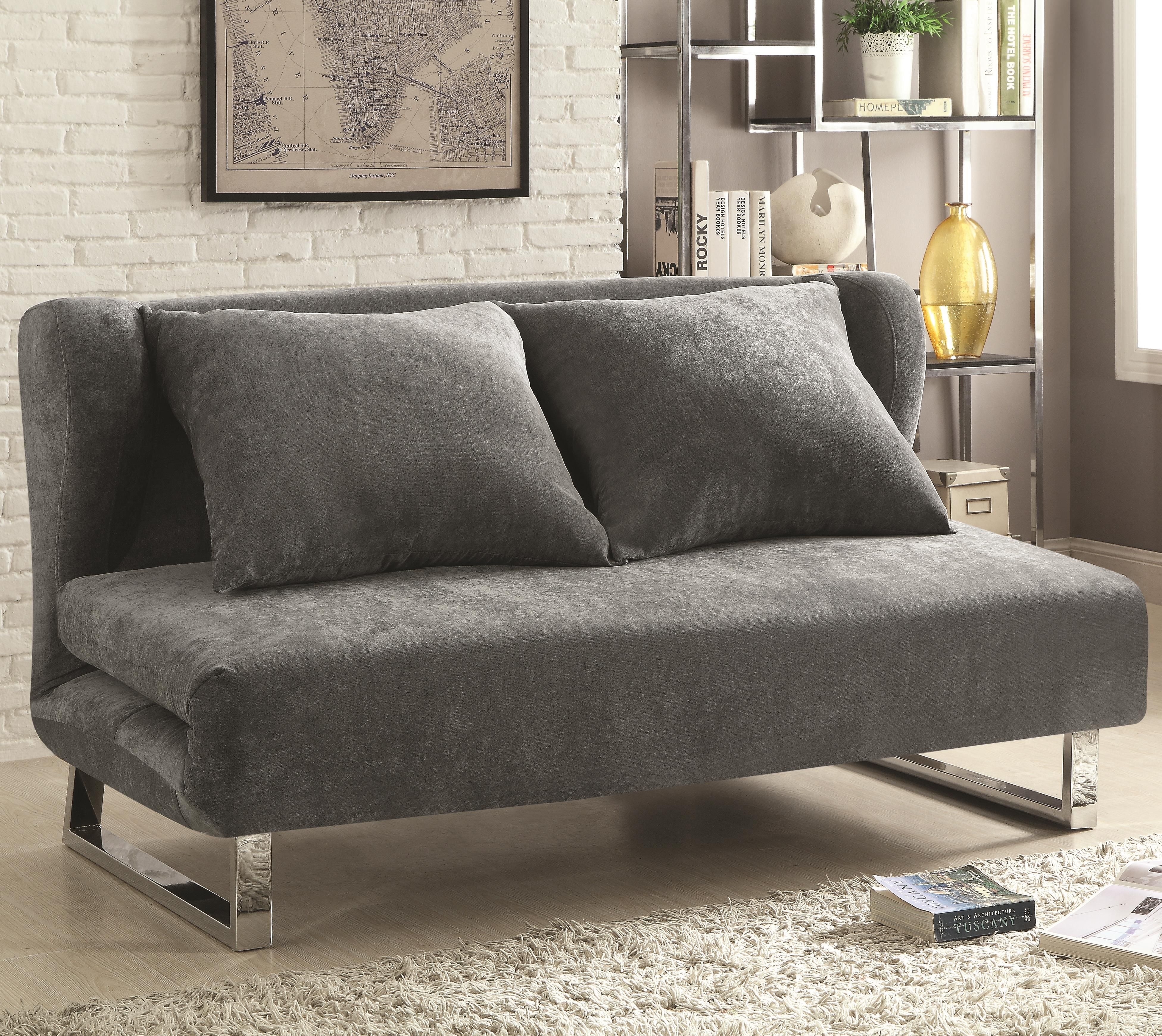Sofa Beds And Futons Transitional Velvet Sofa Bed By Coaster At Del Sol  Furniture