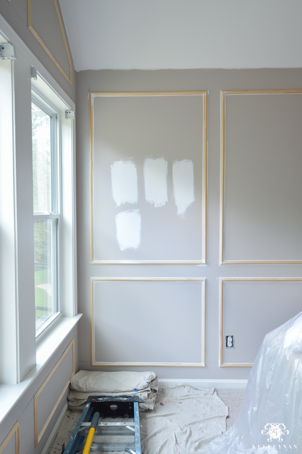 One Room Challenge- Week 2: Paneled Bedroom Walls and the Painting Begins! | Kelley Nan