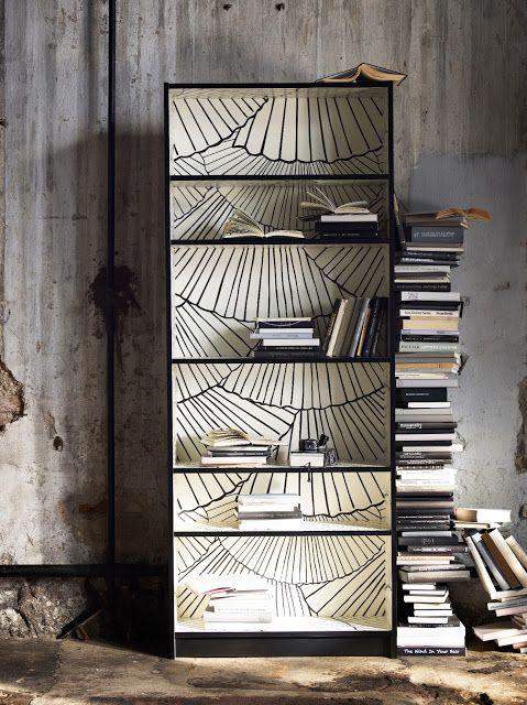 Interior Groupie Ikea Does It Again Wallpaper Bookshelf Billy Bookcase Ikea Billy Bookcase