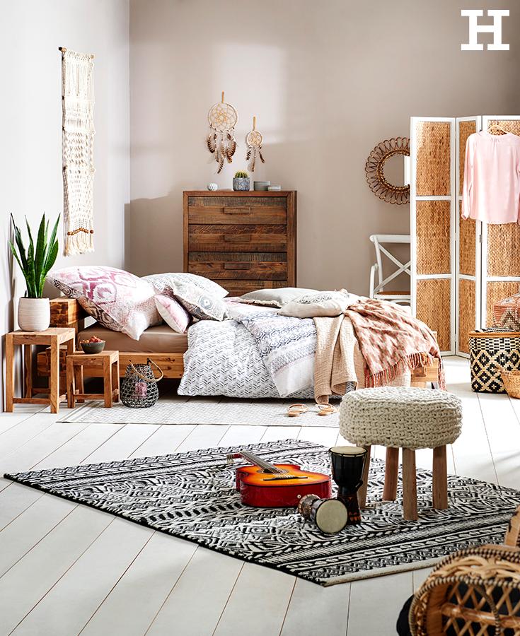 Da wachen wir gerne auf in diesem traumhaften schafzimmer im ethno style schlafzimmer ethno - Schlafzimmer style ...