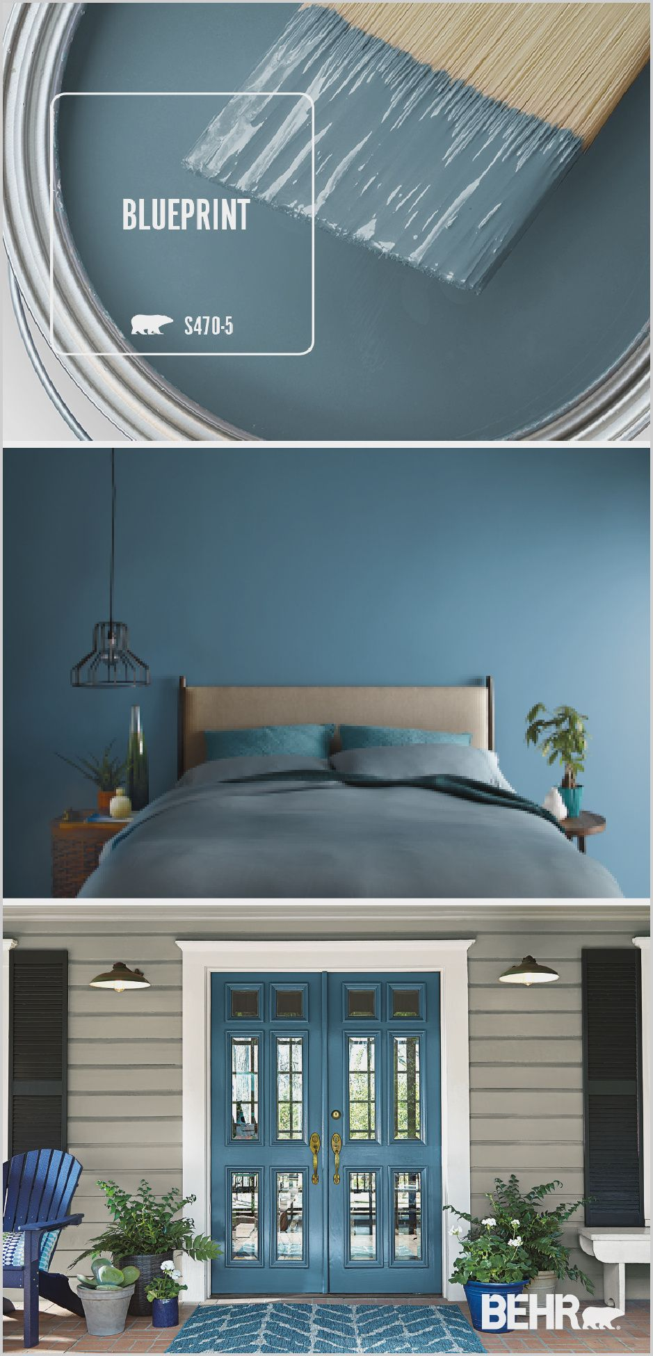 Behr Blue Paint Living Room in 2020 Paint colors for