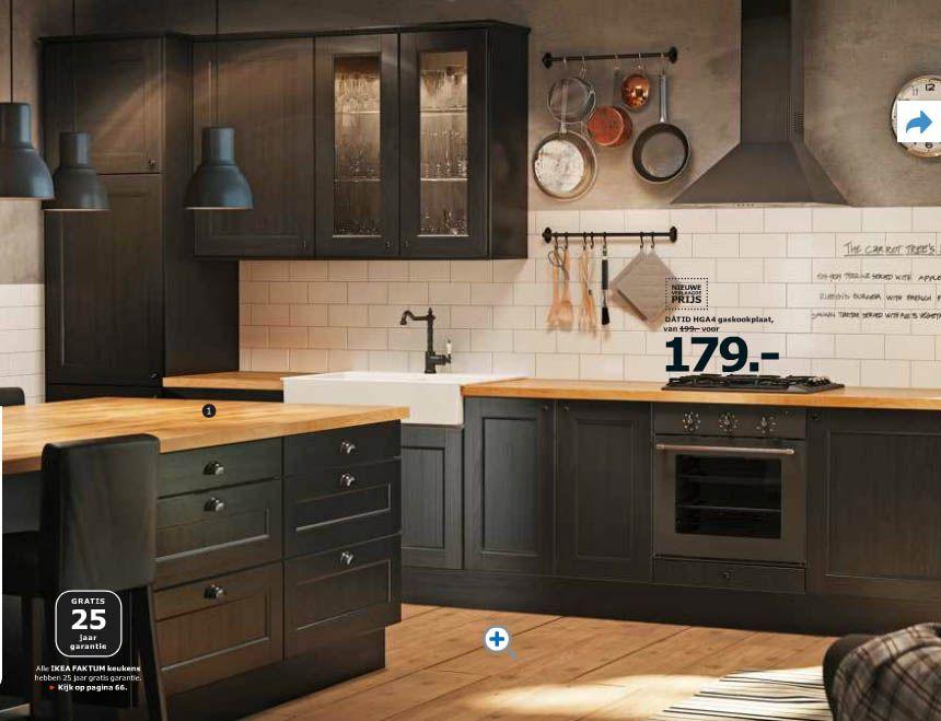 Keukenkastjes zwart schilderen nieuw mooi houten blad en nieuwe