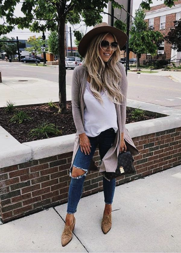 55+ Insanely Cute Fall Outfits #outfitswithhats