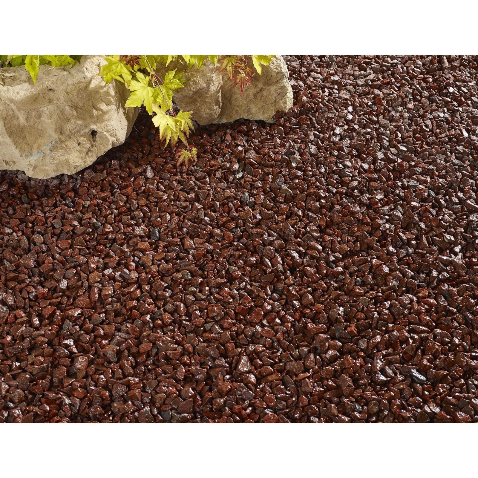 Stylish Stone Red Chippings Midi Pack Outdoor Gardens Red Stone