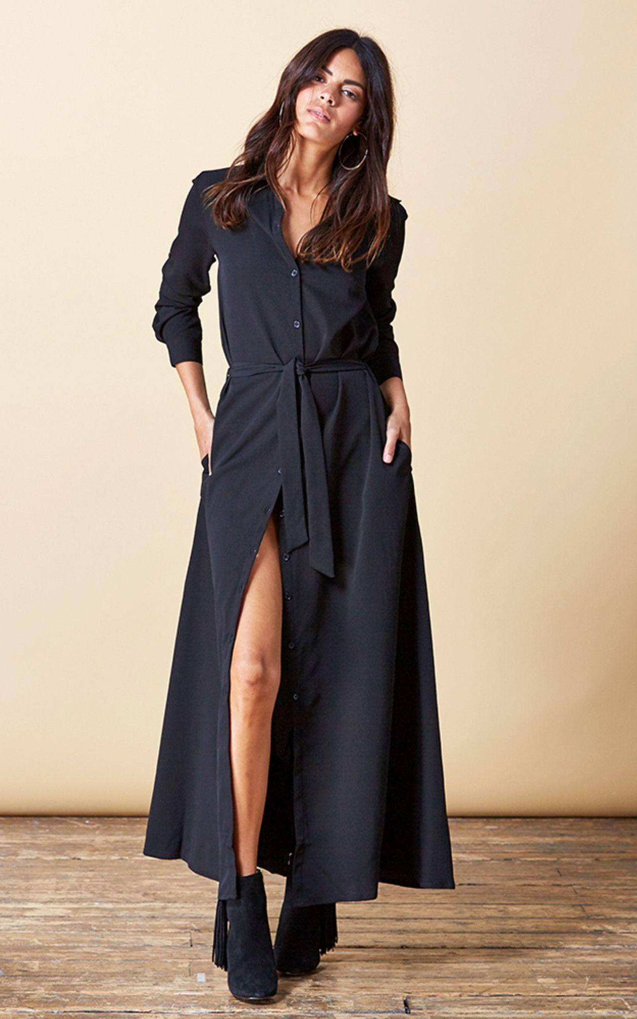 Vantage Point Maxi Shirt Dress {multiple colorways}