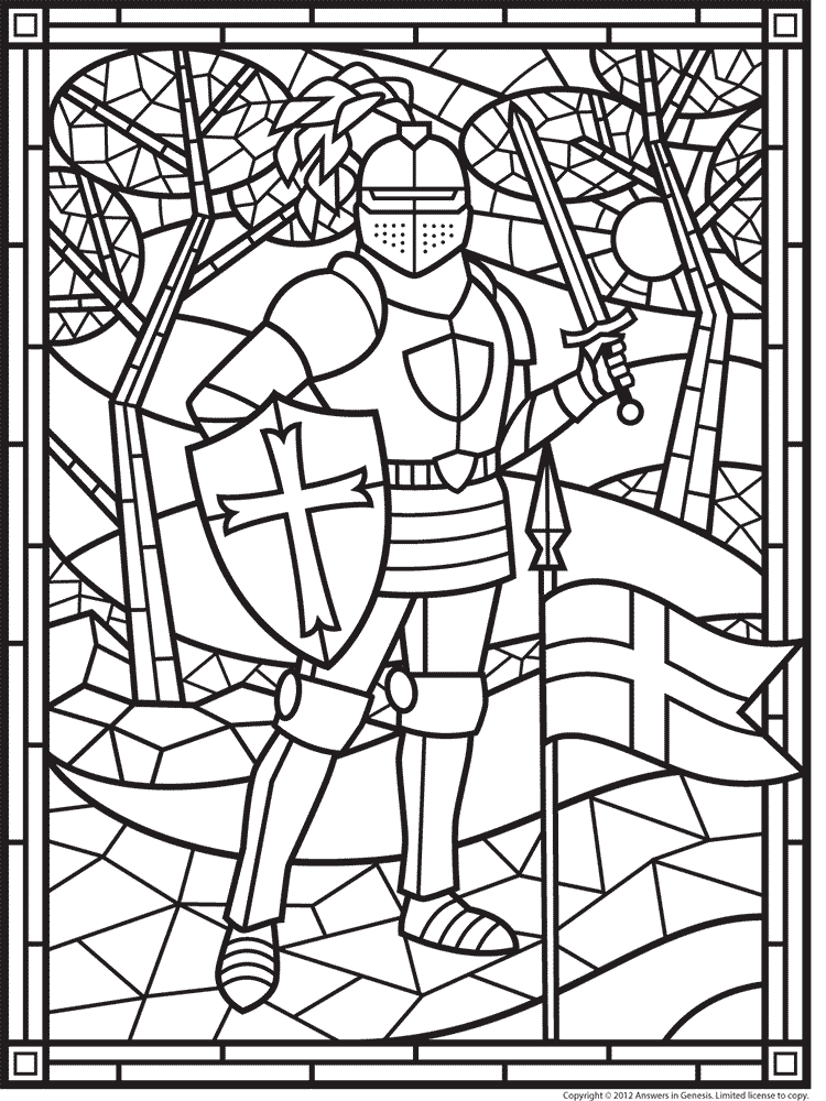 Stained Glass Knight Medieval Crafts Middle Ages Knight