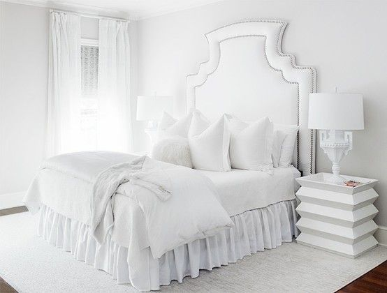 Sterile White Bedroom
