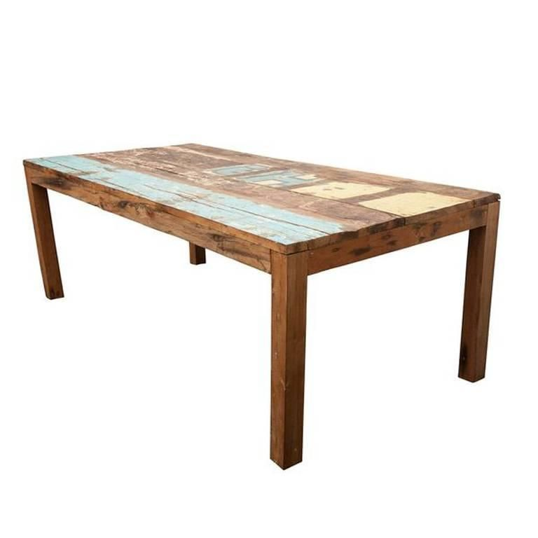Reclaimed Indonesian Fishing Boat Dining Table Dining Table